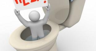 آموزش باز کردن گرفتگی لوله توالت و توالت فرنگی